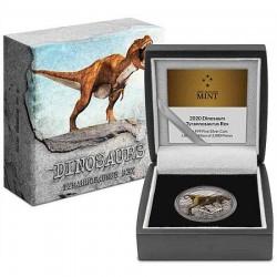 Tyrannosaurus Rex - Niue 2020 1 uncia színes, antikolt ezüst pénzérme
