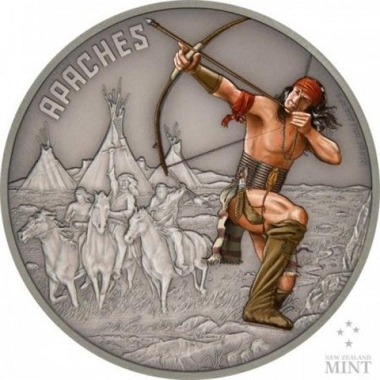 Harcosok - Apacsok 2017 1 uncia ezüst pénzérme