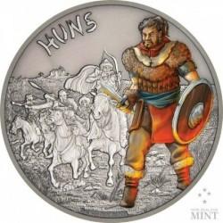 Harcosok - Hunok 2017 1 uncia ezüst pénzérme