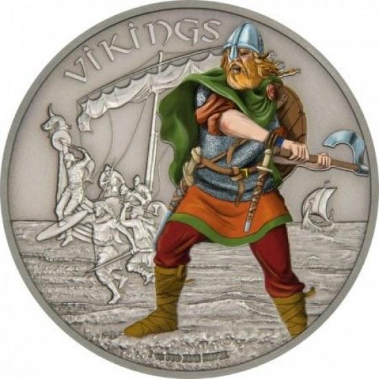 Harcosok - Vikingek 2016 1 uncia ezüst pénzérme
