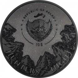 Fekete párduc 2020 Palau 2 uncia high-relief, fekete proof ezüst pénzérme