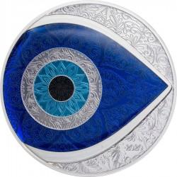 Evil Eye - amulett a Gonosz Szem ellen Palau 2020 proof ezüst pénzérme