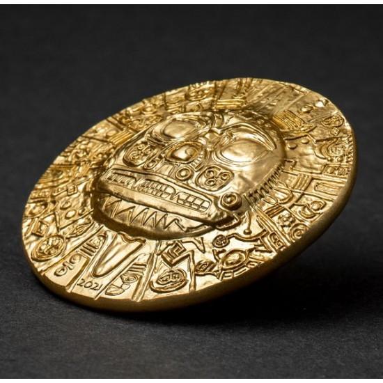 Inka Napisten - Palau 2021 1 uncia aranyozott ezüst pénzérme