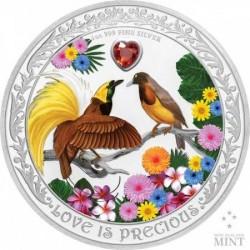 Szerelmes madarak 2020 1 uncia proof ezüst pénzérme