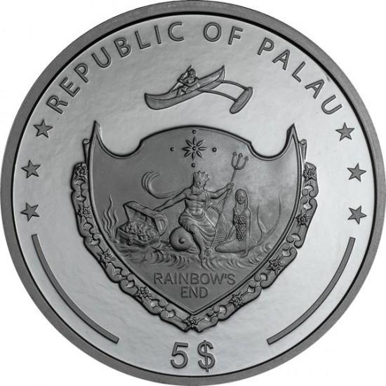 Csodalámpa 2021 Palau fekete proof ezüst pénzérme - CSAK 1001 példányban!