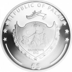 Kagyló igazgyönggyel Palau 2015 ezüst pénzérme