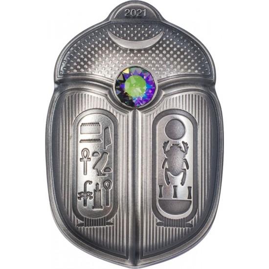 Tutankhamon fáraó szkarabeusza 2021 Palau ezüst pénzérme - CSAK 1500 példányban!