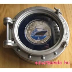 Cunard Queen Elisabeth hajó - Pitcairn 2013 1 uncia ezüst pénzérme