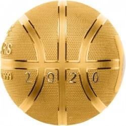 Kosárlabda 2020 1 uncia aranyozott ezüst pénzérme - GÖMB ALAKÚ!
