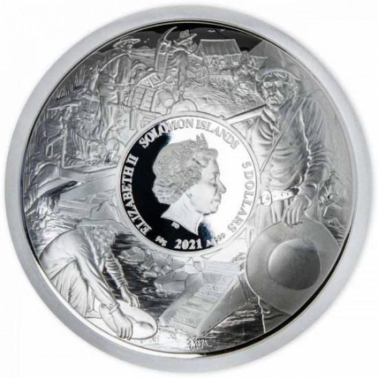 Aranyláz Klondike-ban 125 éve - Salamon-szk 2021 50g ezüst pénzérme