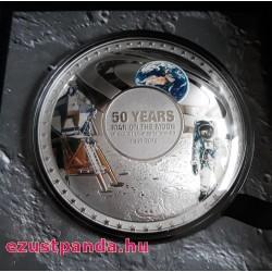 A Holdraszállás 50 éve Salamon-szigetek 2019 50g ezüst pénzérme