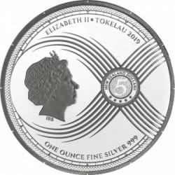 Chronos - Az Idő Tokelau 2019 1 uncia ezüst pénzérme, tükörveret
