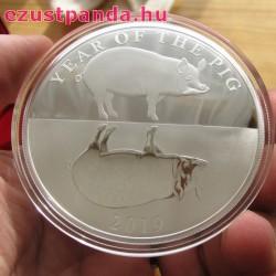 "Tokelau Disznó éve ""Mirror Pigs"" 2019 1 uncia proof ezüst pénzérme"