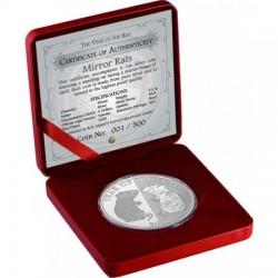 """Tokelau Patkány (Egér) éve """"Mirror Rats"""" 2020 1 uncia proof ezüst pénzérme - CSAK 500 PÉLDÁNY!"""