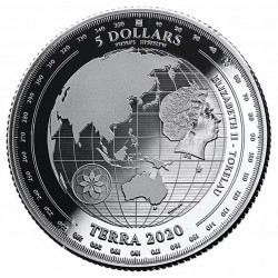Terra - A Föld Tokelau 2020 1 uncia ezüst pénzérme, tükörveret