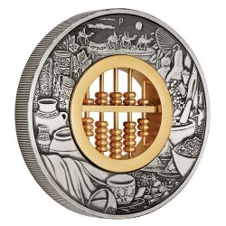 Abakusz - Tuvalu 2019 2 uncia antikolt ezüst pénzérme
