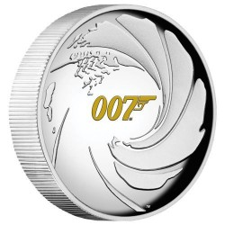 James Bond 007 1 uncia high relief proof ezüst pénzérme