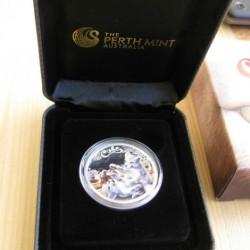 Fehér oroszlán kölykök 2016 1/2 uncia színes ezüst pénzérme