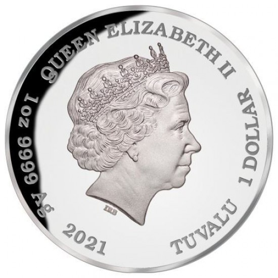 Tövises rája 2021 ausztrál 1 uncia proof ezüst pénzérme