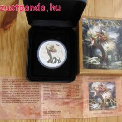 Kínai sárkány - 2012 1 uncia proof ezüst pénzérme