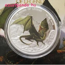 Európai zöld sárkány - 2013 1 uncia proof ezüst pénzérme