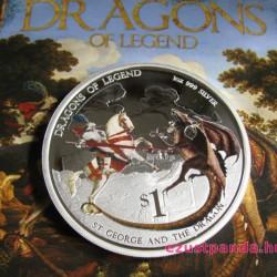 Sárkányölő Szent György - 2012 1 uncia proof ezüst pénzérme