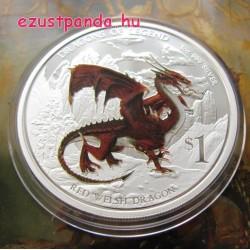 Wales-i vörös sárkány - 2012 1 uncia proof ezüst pénzérme