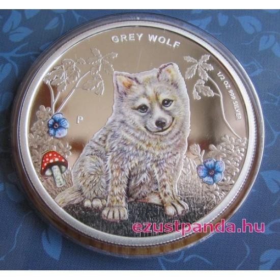 Erdei kölykök - Forest Babies 2013 3x 1/2 uncia színes ezüst érmesorozat