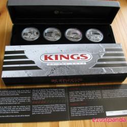 Az utak királyai (Kings of the Road) 2010 4x1 uncia proof ezüst érmeszett