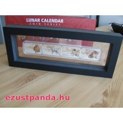 Lunar Kutya éve 2018 4x1 uncia színes proof ezüst érmeszett
