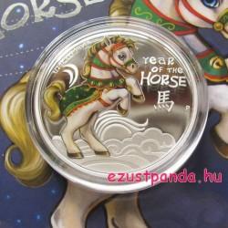 """Kiscsikó (""""Bébi Ló"""") 2014 1/2 uncia színes ezüst pénzérme"""