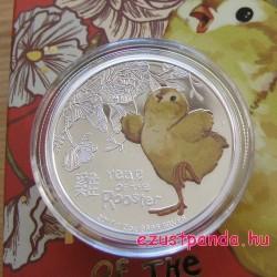 """Kakascsibe (""""Bébi Kakas"""") 2017 1/2 uncia színes ezüst pénzérme"""