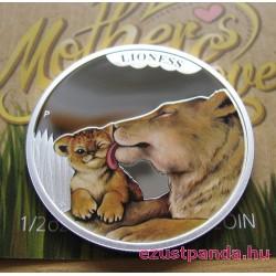 Anyai szeretet - Oroszlán 2014 1/2 uncia színes ezüst pénzérme