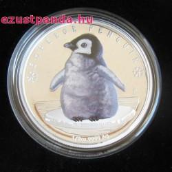 Pingvincsibe 2017 1/2 uncia színes ezüst pénzérme