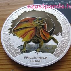 Ausztrália hüllői - Galléros agáma 2013 1 uncia proof ezüst pénzérme