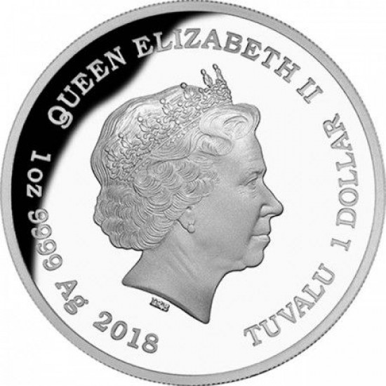 Ausztrália hüllői - Smaragdzöld piton 2018 1 uncia proof ezüst pénzérme