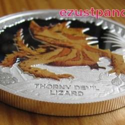 Ausztrália hüllői- Tüskés ördög 2014 1 uncia proof ezüst pénzérme
