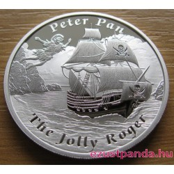 Mesebeli hajók - A Jolly Roger 2014 1 uncia proof ezüst pénzérme
