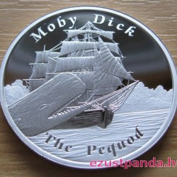 Mesebeli hajók - A Pequod (Moby Dick) 2013 1 uncia proof ezüst pénzérme