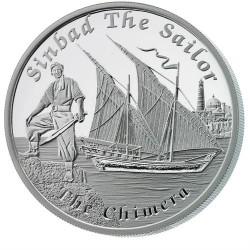 Mesebeli hajók - A Chimera (Szinbád) 2015 1 uncia proof ezüst pénzérme