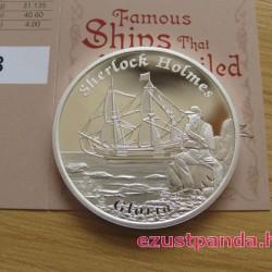Mesebeli hajók - A Gloria Scott (Sherlock Holmes) 2014 1 uncia proof ezüst pénzérme