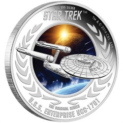 Star Trek - USS Enterprise NCC-1701 2015 1 uncia proof ezüst pénzérme