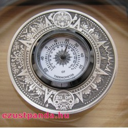 Hőmérő - Tuvalu 2018 2 uncia antikolt ezüst pénzérme