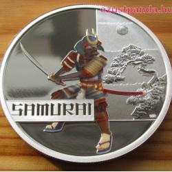 Szamuráj 2010 1 uncia színes proof ezüst pénzérme