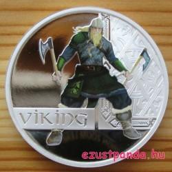Viking harcos 2010 1 uncia színes proof ezüst pénzérme