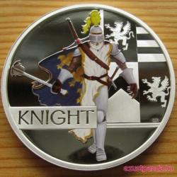 Középkori lovag 2010 1 uncia színes proof ezüst pénzérme