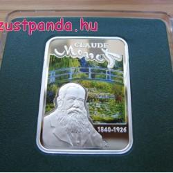 A Világ festői: Monet - Niue 2010 színes ezüst pénzérme