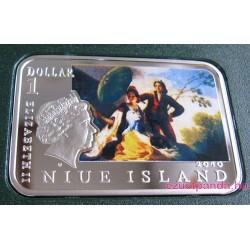 A Világ festői: Goya - Niue 2010 színes ezüst pénzérme