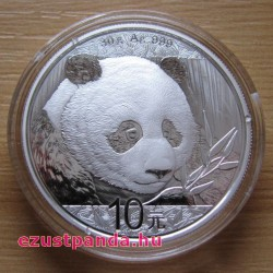 Panda 2018 30 gramm ezüst pénzérme
