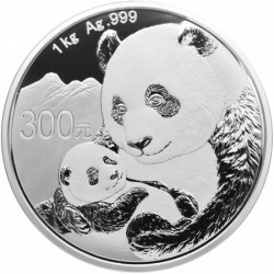 Panda 2019 1 kg proof ezüst pénzérme